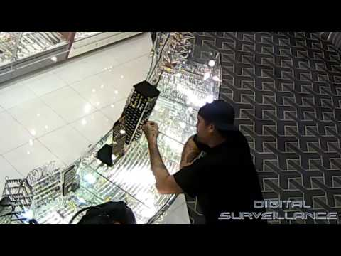 Daylight Robbery In Shopping Mall - Business Security Camera Caught Robbery