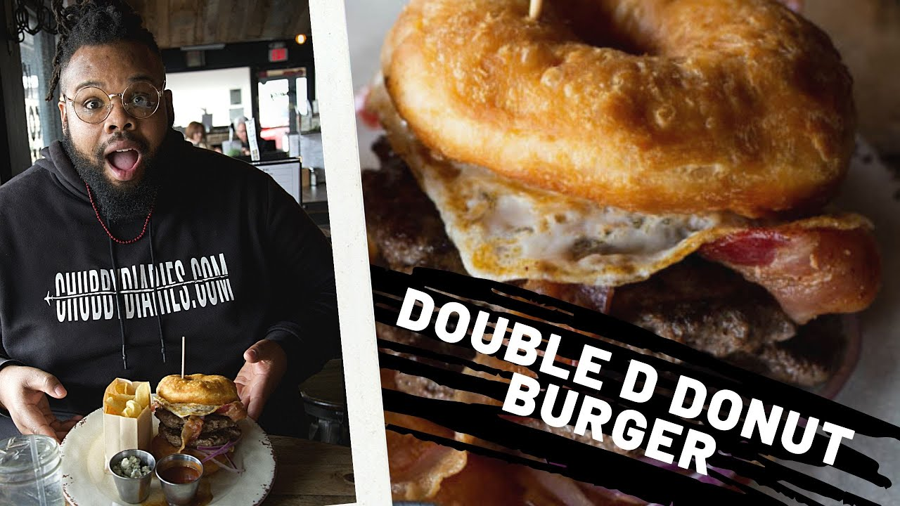 A Donut That Makes You Go Nuts! Trying The Double D Donut Burger From Gourdough's Austin, Texas!