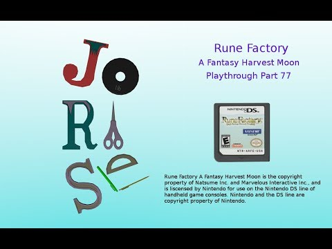 Rune Factory Playthrough Part 77 – Mining, Mining All Day Long