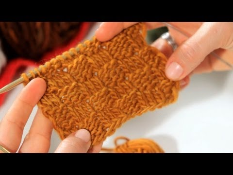 How to Do a Basket Weave Stitch | Knitting