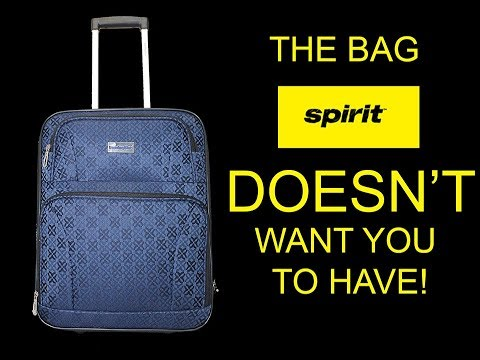 The Bag Spirit Airlines Doesn T Want You To Have