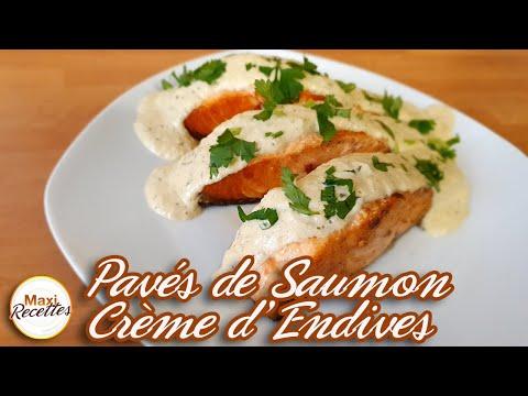 pavés-de-saumon-à-la-crème-d'endives-et-persil---recette-facile