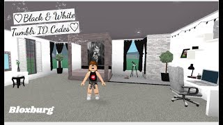 ROBLOX | Welcome to Bloxburg: ♡Black & White Tumblr ID Codes♡ #2