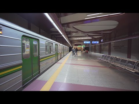 Bulgaria, Sofia, metro night ride from Европейски съюз to Джеймс Баучер
