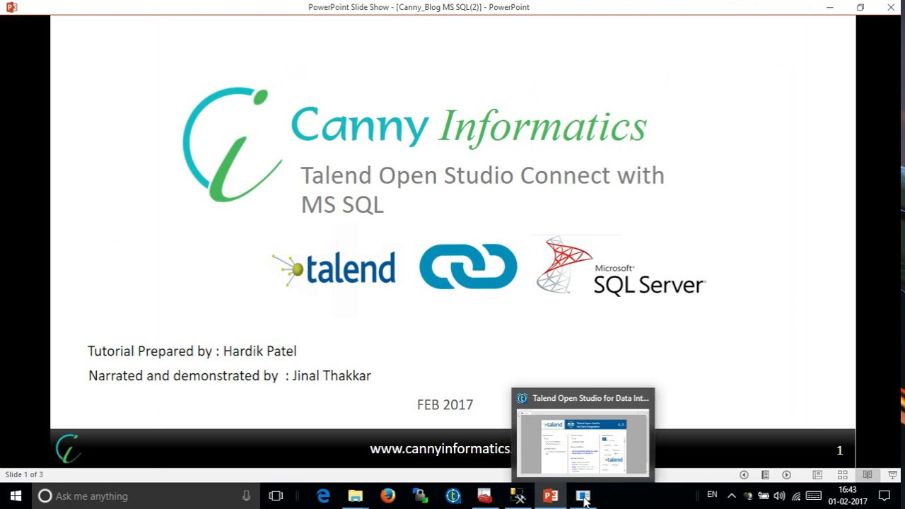 Talend — MSSQL connection using windows authentication
