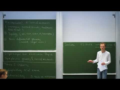 Symplectic geometry & classical mechanics, Lecture 1
