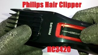 Philips Hair Clipper HC3420 Unboxing and Disassembly