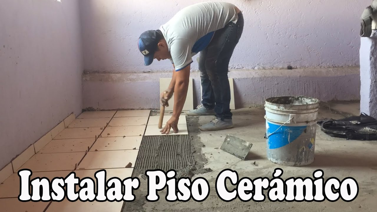 Como instalar pisos ceramicos youtube for Pisos ceramicos