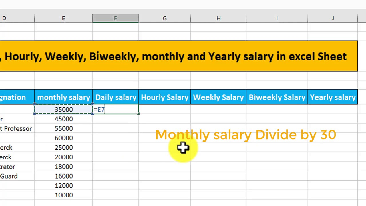 How to calculate Daily|| hourly ||weekly || biweekly and ...