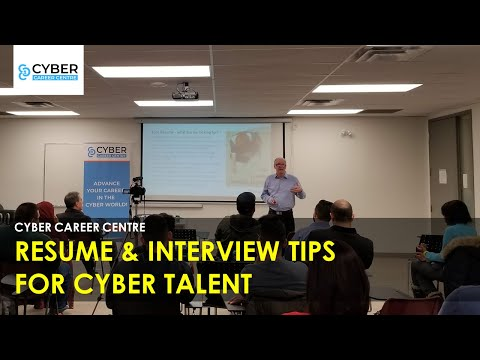 Cyber Career Centre - Resume And Interview Tips For Cybersecurity Talent