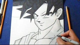 Como desenhar Goku - Dragon Ball Z