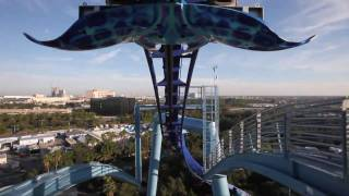 Manta Roller Coaster Front Seat POV Sea World Orlando HD