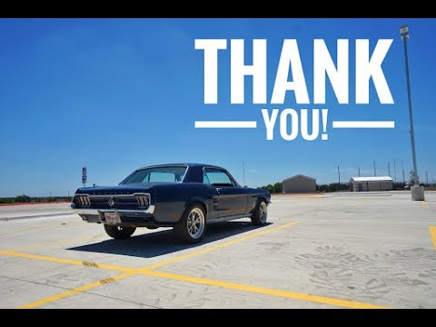 Mustang maintenance and a huge thank you!