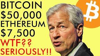 BITCOIN $50,000 ETHEREUM $7500, PRICE PREDICTIONS! WTF? JP MORGAN SHOCKING U-TURN   CRYPTO NEWS 2020