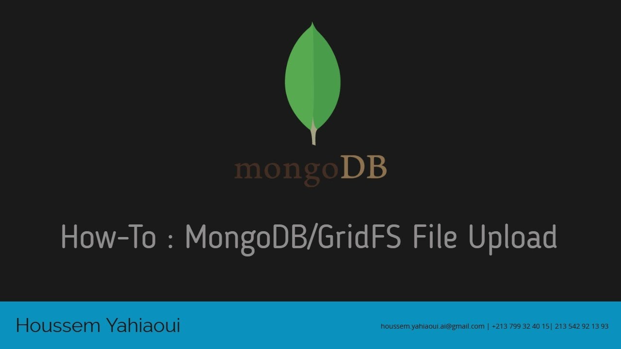 How-to : MongoDB File Upload with NodeJS and GridFS