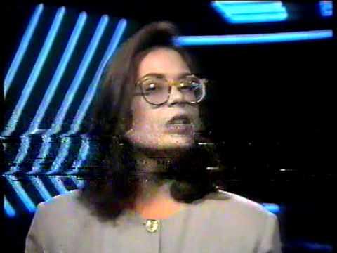 Carolina Ferraz apresenta programa da Manchete - 1990