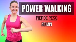 Pierde Peso Andando en Casa - POWER WALKING 40 minutos