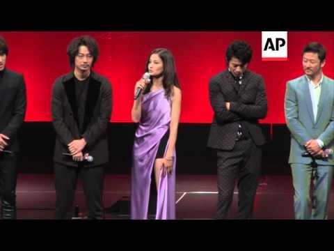 Tadanobu Asano, Oguri Shun and Jerry Yan attend the premiere of  'Lupin III'