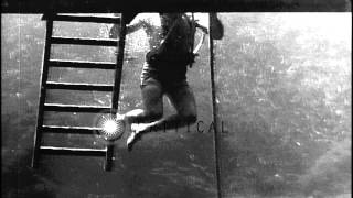 Training of a Navy diver HD Stock Footage