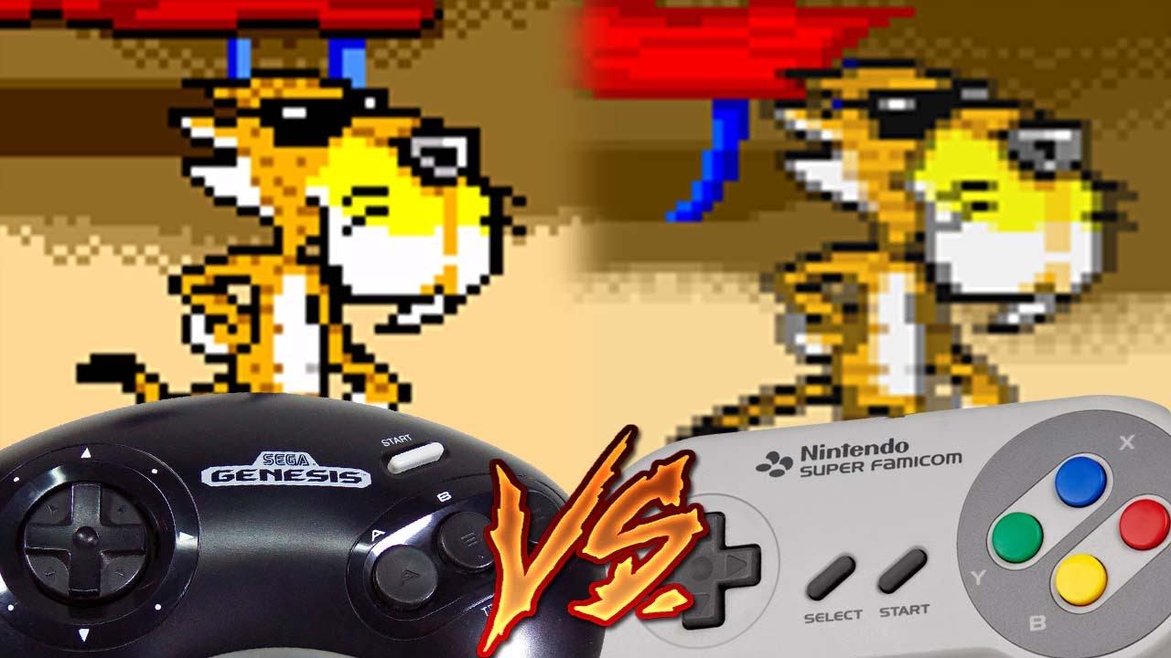 sega genesis vs super nintendo chester cheetah too cool to fool