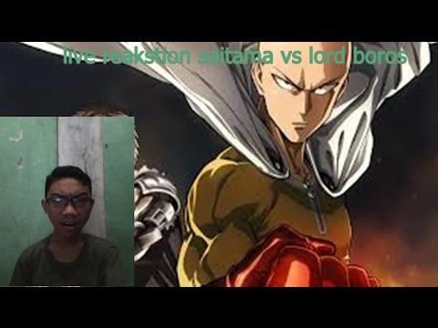 one punch man-saitama vs lord boros(live reaction) - YouTube
