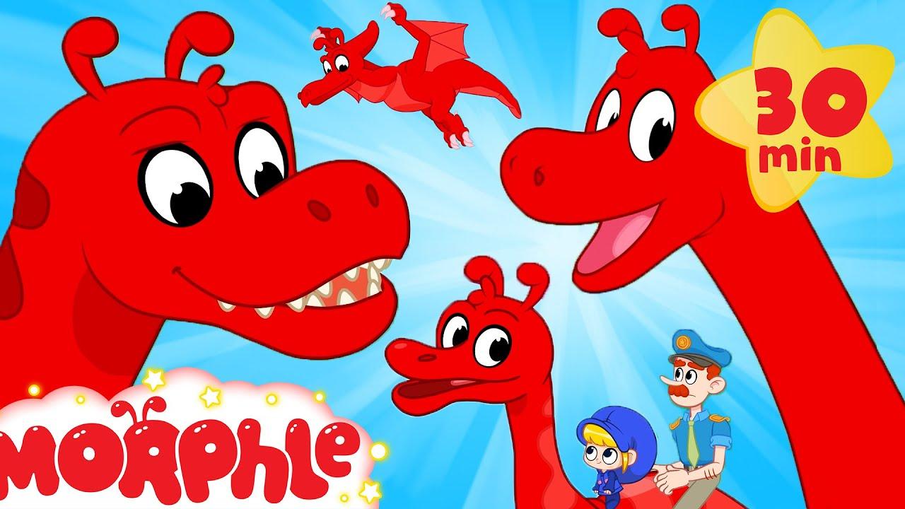 Morphle's Dinosaur Day - T Rex, Brachiosaurus | Kids Videos & Cartoons | My Magic Pet Morphle