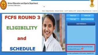 FCFS Round 3 (LAST ROUND..!!)🔥🔥 -  Eligibility and Schedule | 11th Admission (2018-19)