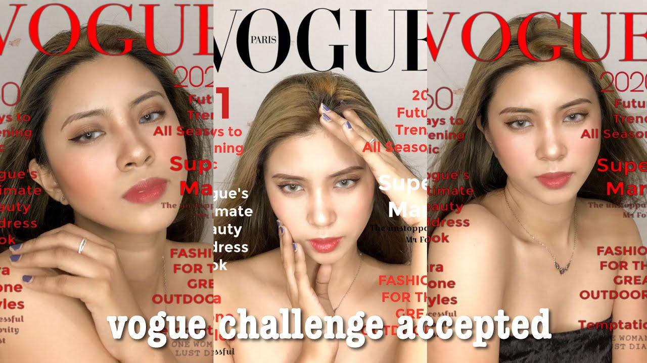 VOGUE CHALLENGE TIKTOK TREND (make up + how to edit) | Elaine Tecson
