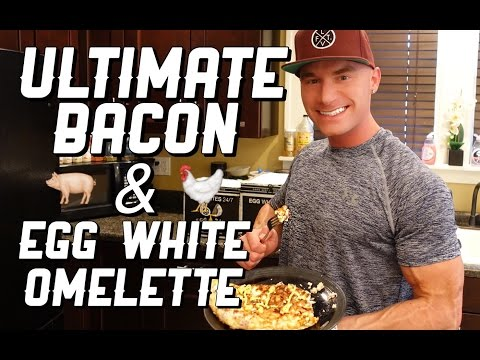 The ULTIMATE Bacon & Egg White Omelette | High Protein Low Carb Healthy Breakfast