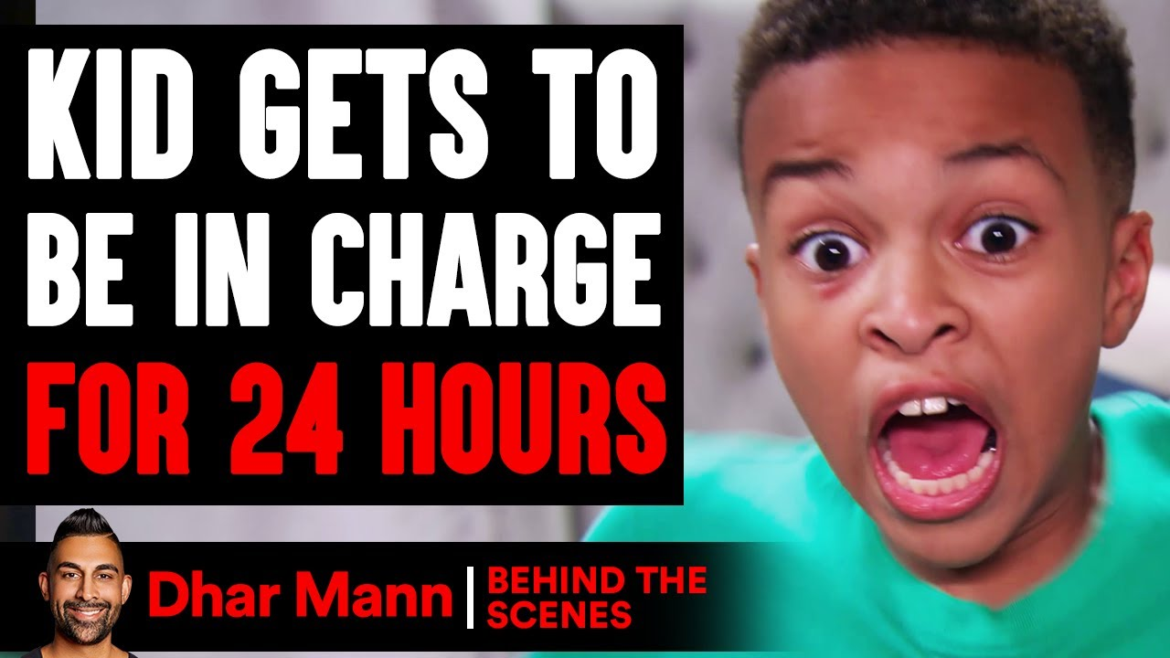 Kid Gets To BE IN CHARGE for 24 Hours (Behind The Scenes) | Dhar Mann Studios