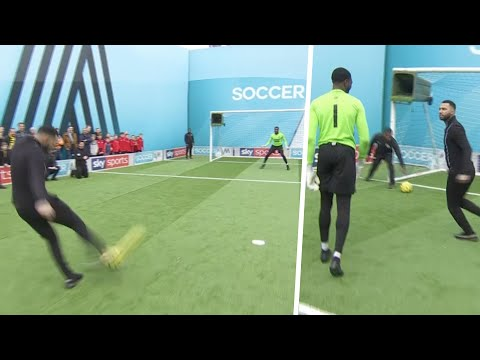 Jermaine Pennant taunts goalkeeper after being denied by two AMAZING saves   Soccer AM Pro AM
