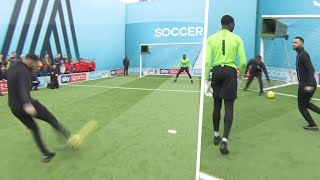 Jermaine Pennant taunts goalkeeper after being denied by two AMAZING saves | Soccer AM Pro AM