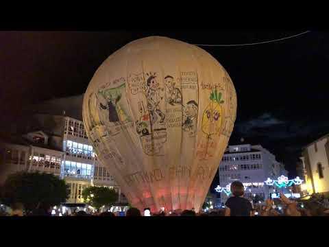 Betanzos logra lanzar su tradicional globo en las fiestas de San Roque