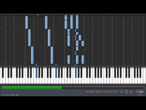 Synthesia - Avenged Sevenfold - Warmness on the Soul Piano Tutorial (50% speed)