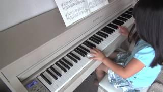 ピアノ練習「インディアンの踊り」 2015/8/15 (6歳10ヶ月)