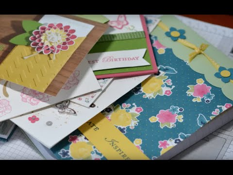 Stampin' Up! Australia. Downline Gifts : How to Cover a Jotter Notebook