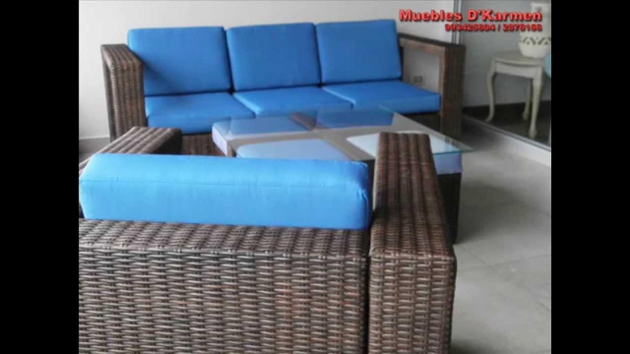Muebles para terraza juego de sala tejido cod mst004 for Ofertas muebles de terraza