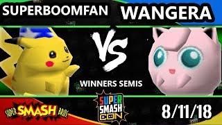 SSC 2018 SSB - Wangera (Jigglypuff) Vs. PG   SuPeRbOoMfAn (Pikachu) - Smash 64 Winners Semis