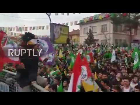 Turkey: Pro-Kurdish People's Democratic Party rally for 'NO' referendum vote in Diyarbakir