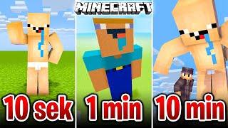 Minecraft BUDUJĘ NOOBA W 10 SEKUND, 1 MINUTĘ I 10 MINUT!