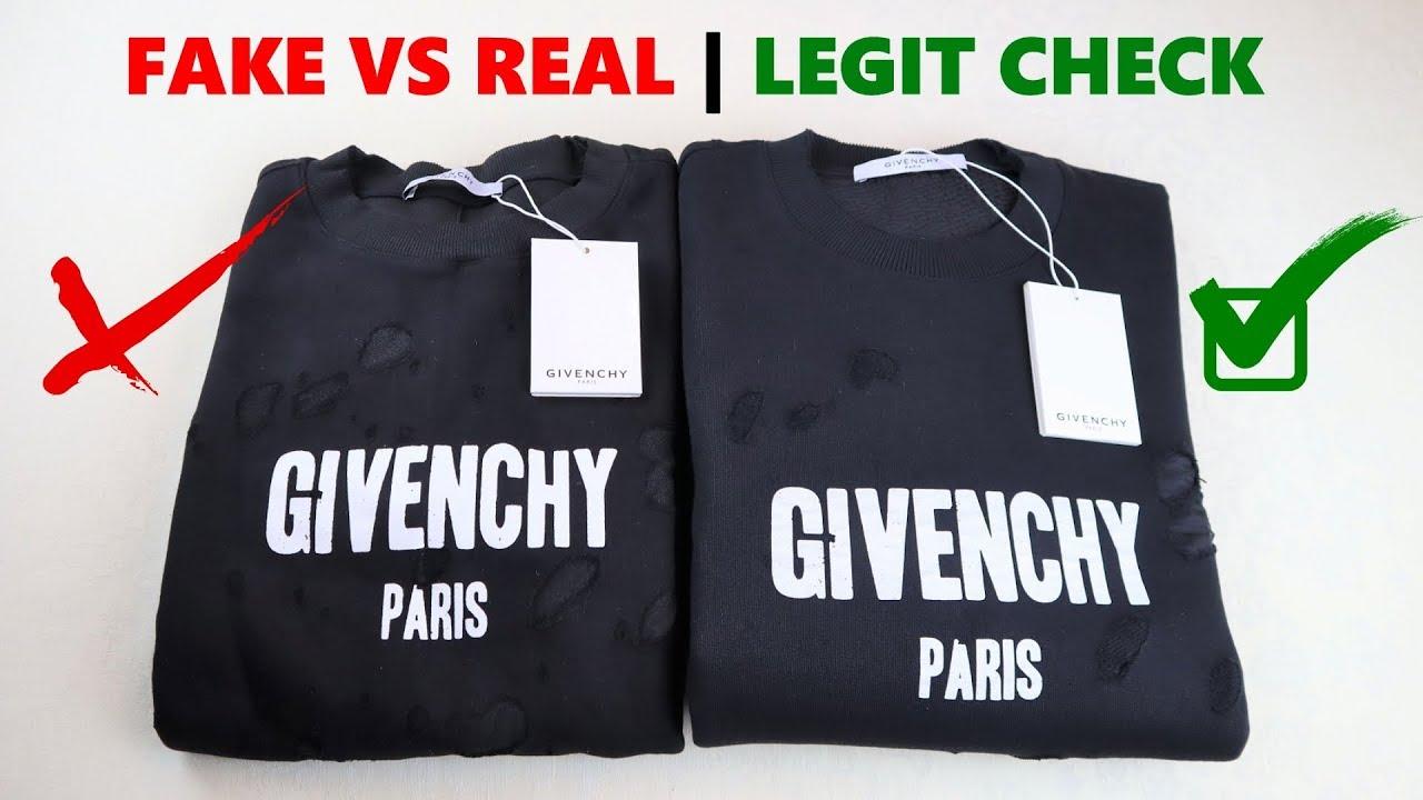 Real vs Fake Givenchy Sweatshirt Legit Check