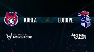 KR vs EU | Group Stage Day 2 | AWC 2018