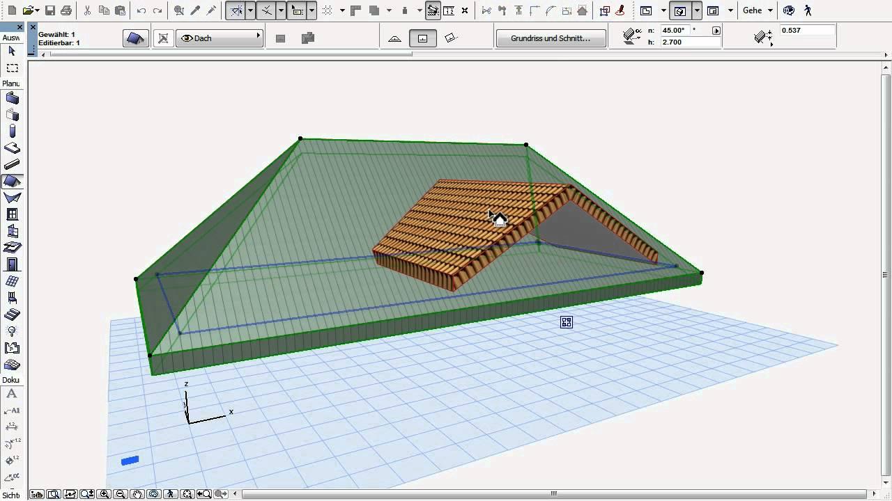 archicad 15 19 dach mit dach verbinden youtube