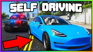 GTA 5 Roleplay - SELF DRIVING TESLA TROLLS COPS | RedlineRP