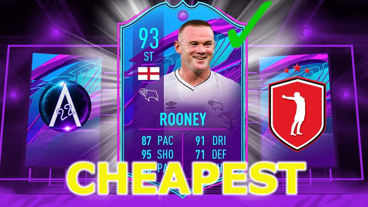 Wayne Rooney Sbc Cheapest Solution Fifa21 Youtube