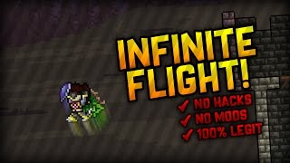 NEW LEGIT WAY TO HAVE INFINITE FLIGHT IN TERRARIA! (NO REDS WINGS, NO HACKS)