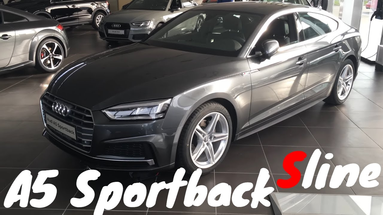 audi a5 sportback s line 2018 in 4k youtube. Black Bedroom Furniture Sets. Home Design Ideas