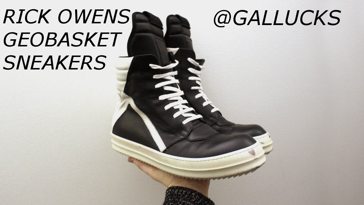 rick owens geobasket sneakers gallucks youtube. Black Bedroom Furniture Sets. Home Design Ideas