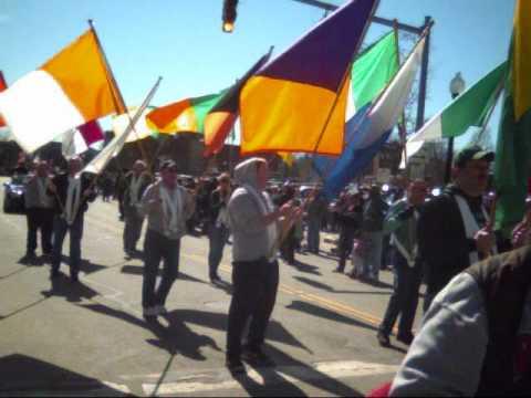 St Patrick's Day Parade Pawtucket RI 2010 # 2 vide...