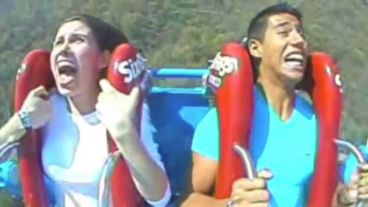 Mejores Reacciones En Slingshot De Six Flags Mexico Youtube